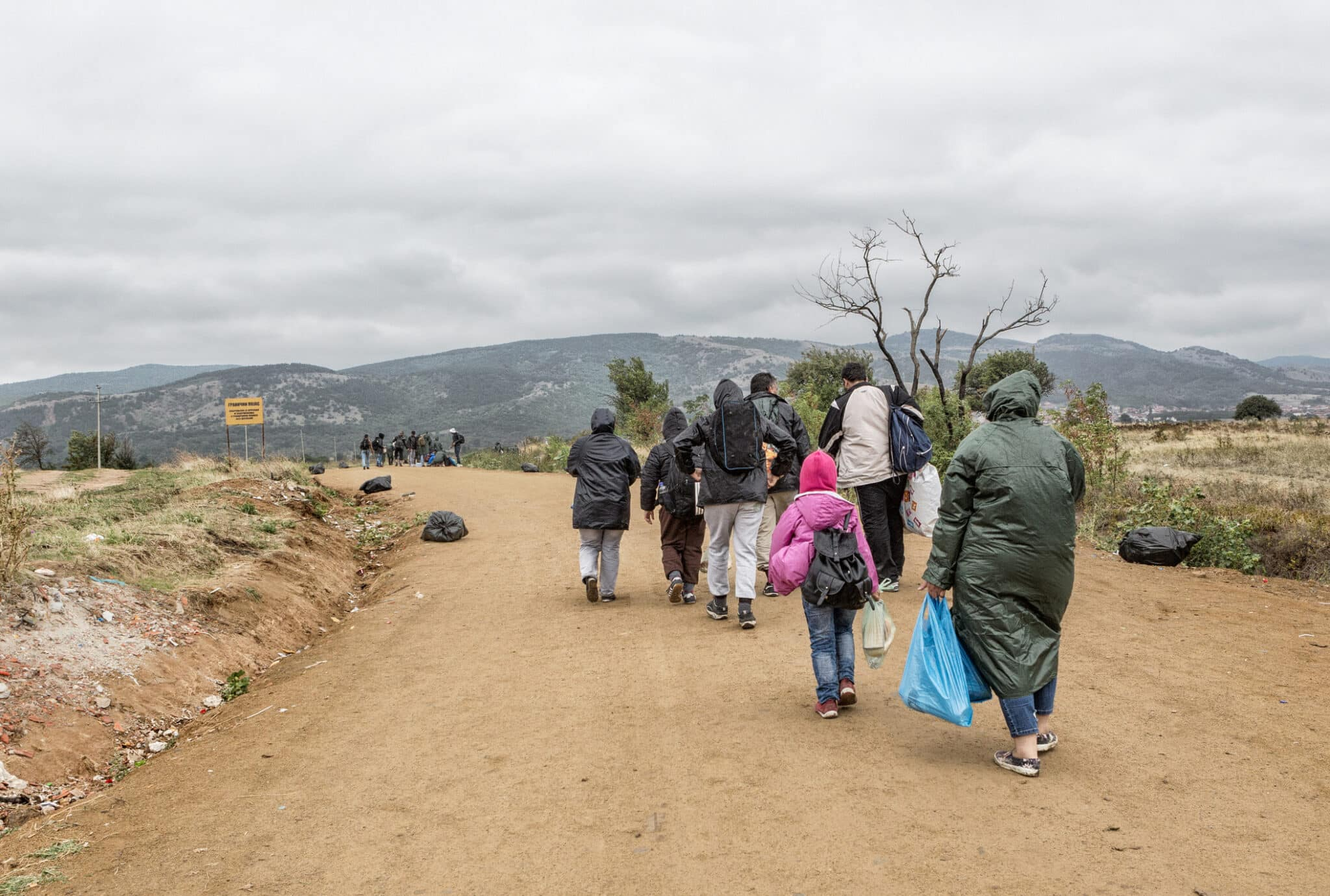 Refugees on the road